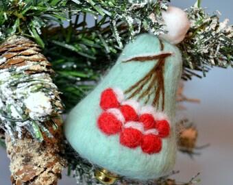 Christmas Holiday Tree Handmade Bell Woolen