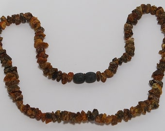 Amber Necklace Raw Unpolished Green n025 Authentic Natural Genuine Baltic Amber