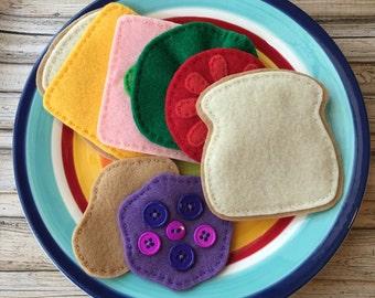felt food sandwich, play food sandwich, pretend play sandwich, dramatic play food