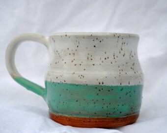 Seafoam freckled mug