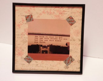 The Book To Read Framed Typewriter Quote Photo Print