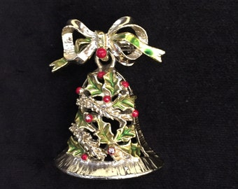 Gerry's Christmas bell brooch