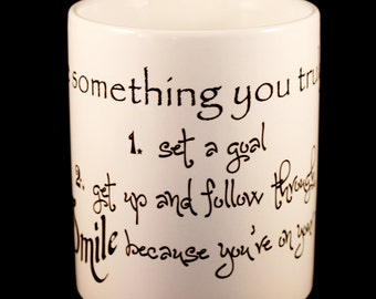 Mug - 'Is there something you truly want?' - Inspirational Quote Mug