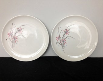 Set of 2 Carefree Flame Lily True China by Syracuse Salad Plates