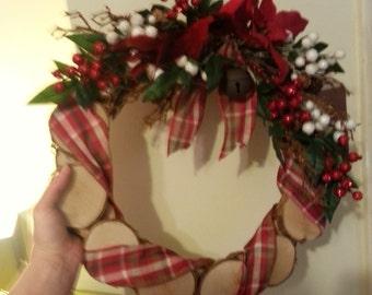 Handmade wooden wreath