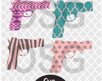 Gun svg,gun patterns svg,aztec gun print svg,zebra gun svg,polka dot gun svg,gun,guns,gun bundle svg,bundle,svg bundle,gun cut files