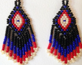 Beaded Chevron Earrings