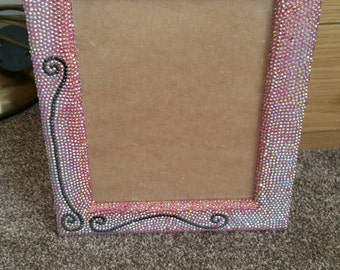 Red with Black Line Crystallised Picture Frame