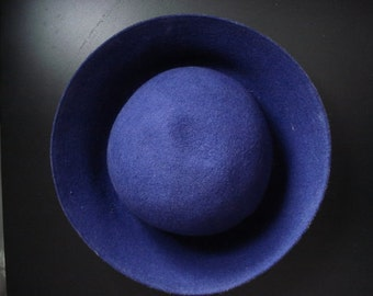 70s Vintage NEW Purple Wool Hat Made in Yugoslavia - Begej