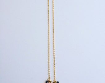 Gold plated charms necklace