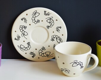 Cup and saucer Shrimp (Cappuccino)