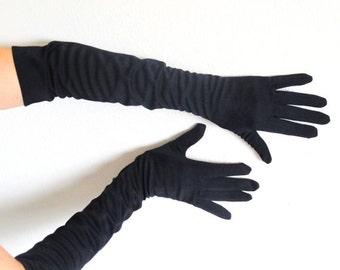 Vintage Satin Full Fingers  Gloves