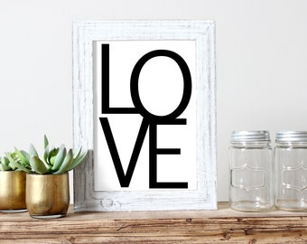 Love Printable Wedding Decor Romantic Poster Love Art Poster Love Poster Graphic Poster Valentines Day Minimalistic Poster Teen Room Print
