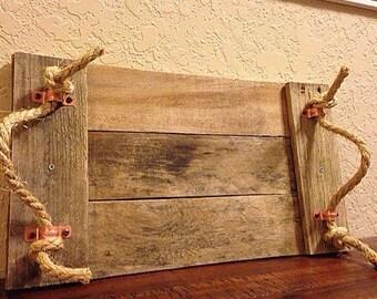 Rustic pallet tray | wooden tray | rustic home decor | rustic kitchen decor | farmhouse decor