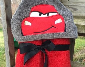 Red Racer Hooded Towel