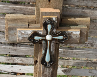 Rustic cross, rustic cross wall decor, cross wall decor, unique wall cross, reclaimed wood, wooden cross, decorative wall cross, wall cross