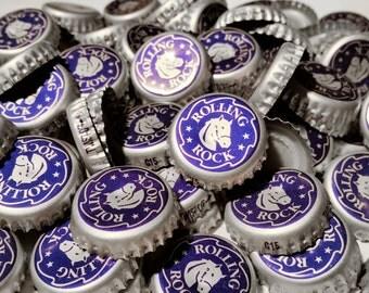 100 Rolling Rock Recycled Beer Bottle Caps