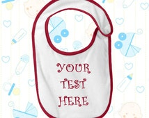Personalized Bib With Monogram or Text- Monogrammed Baby Bib Embroidery Design