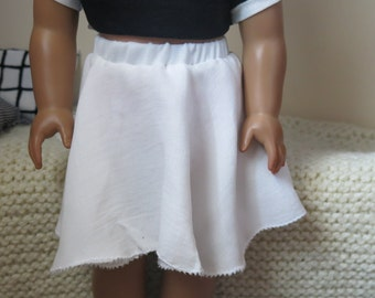 White Fairy-Inspired Skirt for American Girl 18inch Doll