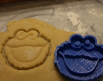 Cookie Monster Cookie Cutter and Fondant Cutter, Party Supply,Birthday, Child Party,Children Party