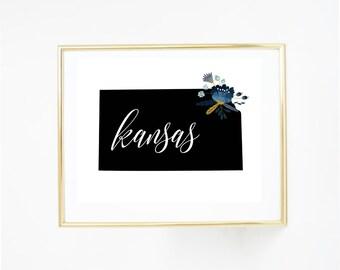 Printable Art, Kansas - State Print