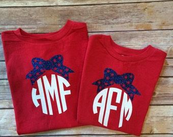 4th of July monogram shirt