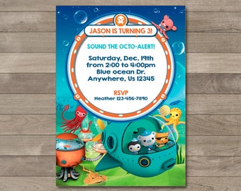 Octonauts Invitation, Octonauts Party, Octonauts Printable Birthday Invitation