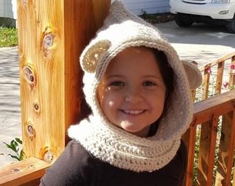 Bear Cowl Hoodie, Photo Prop