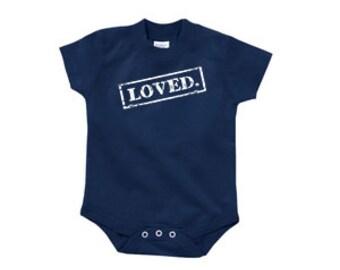 LOVED Onesie - Navy - 6 months