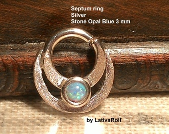 Septum ring,Nose ring,Tragus earrings,Helix, Silver ,14 g,16g,18g,Handcrafted
