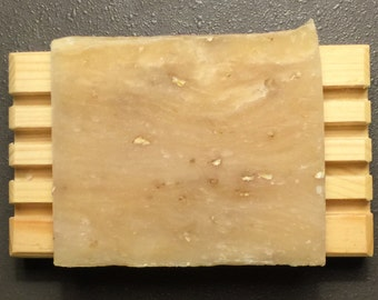 All Natural Handmade Cold Process Soap with Fresh Goats Milk - Lavender Oatmeal Scent