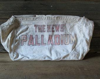 The News-Palladium canvas newspaper bag
