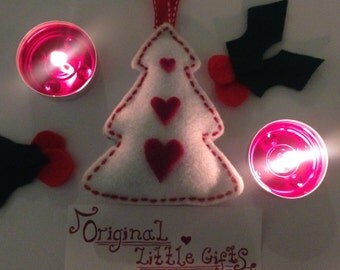 Three pack Christmas decorations handmade