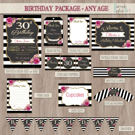 Birthday party package birthday package birthday party for 50th birthday decoration packages