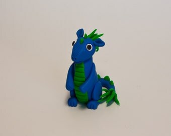 Cute Dragon miniature figurine made with polymer clay