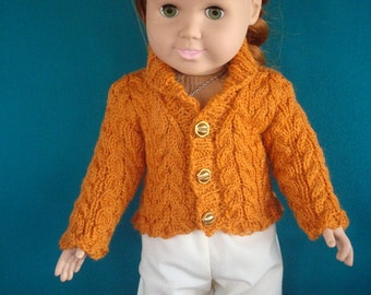 18 inch Doll Sweater, American Girl Doll Sweater