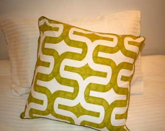 Geometric Chartreuse Cushion Cover 50cm x 50cm