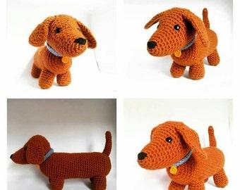 Dachshund dog Amigurumi