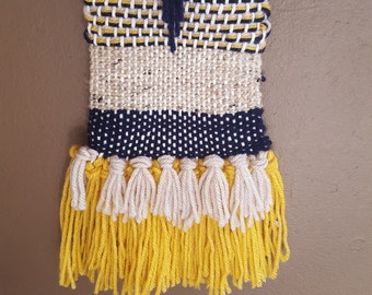 Yellow Fringe Woven Wall Hanging