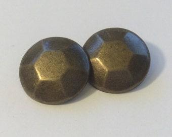Brass shaped buttons