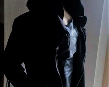 Scuba Knit Zipper Long Torso Jacket with Hood(Now 40.00, Was 50.00 Until Oct.24)
