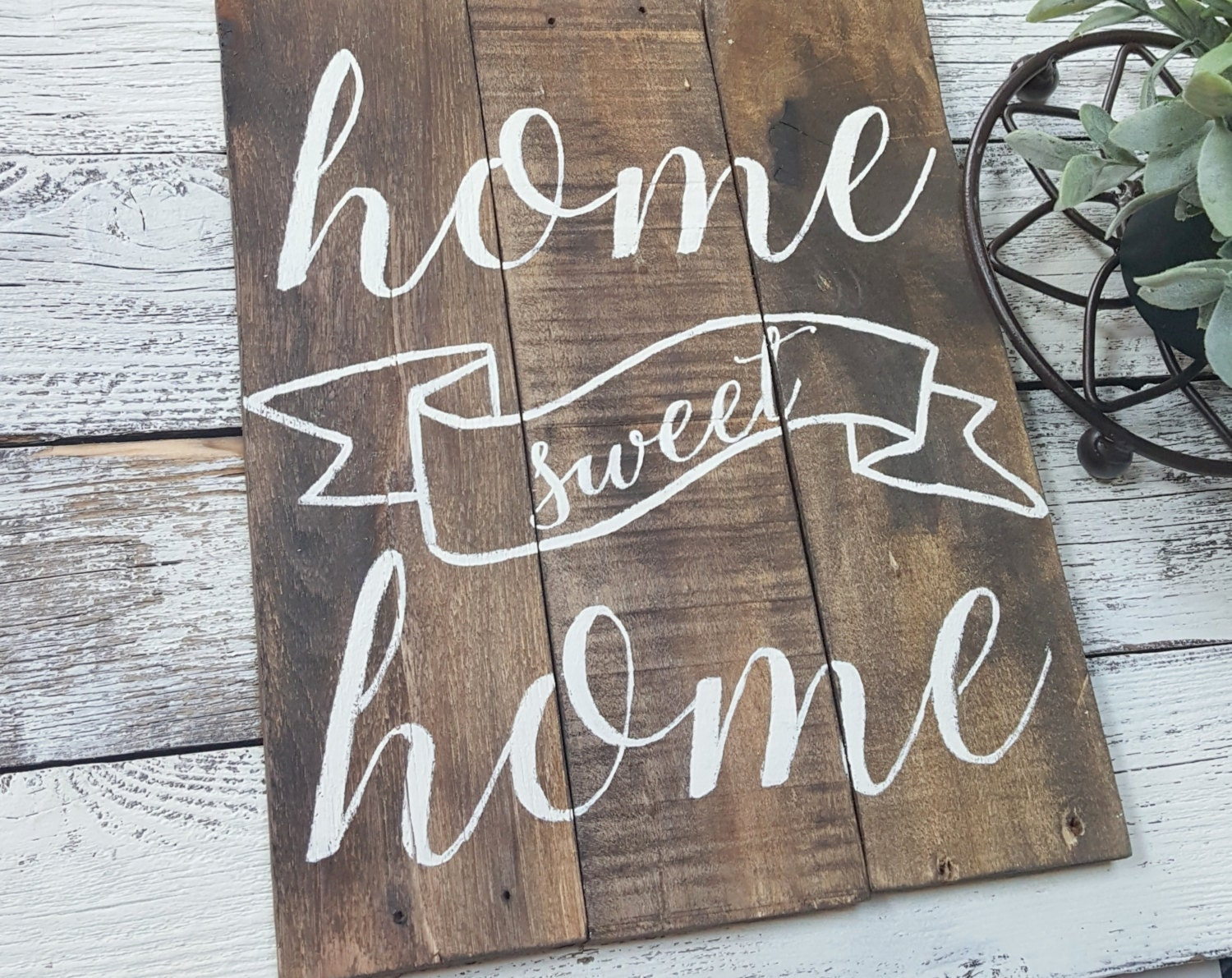 Home sweet home wooden sign home decor housewarming gift - Home sweet home decorative accessories ...