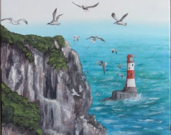 "Rocky Shores. Original 12""x16"" Acrylic Painting"