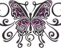 Purple Butterfly Temporary Tattoo (#EG562)