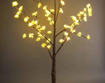 """LED, light up, white, cherry blossom, tree, 46"""" tall, home and living decor, wedding decor"""