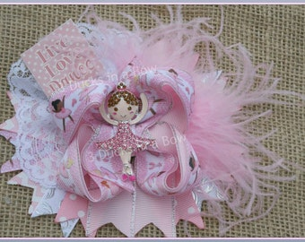 Ballerina Ballet Dance Hair Bow