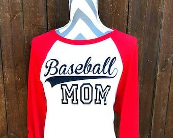 Baseball Mom Shirt, Team Spirit Shirt, Baseball Raglan