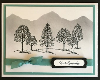 Mountains and Trees Sympathy Card