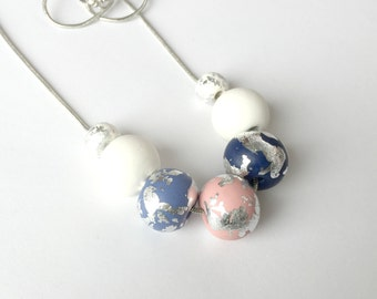 Scandi Inspired Polymer Clay Necklace