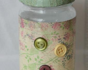 Mini Multi Color Button Storage Jar